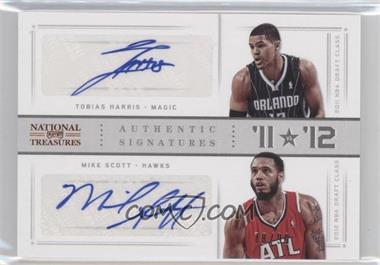 2012-13 Panini National Treasures '11 vs '12 Signatures [Autographed] #98 - Mike Scott, Tobias Harris /99