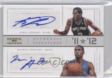 2012-13 Panini National Treasures '11 vs '12 Signatures Gold #25 - Kawhi Leonard, Maurice Harkless /25