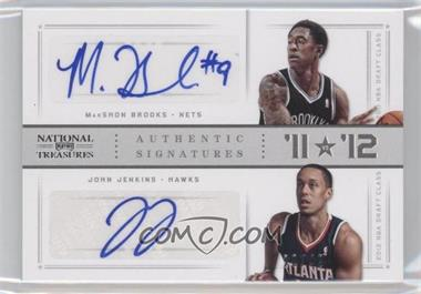 2012-13 Panini National Treasures '11 vs '12 Signatures Silver #29 - John Jenkins, MarShon Brooks /49