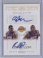 Andrew Bynum, Metta World Peace /25