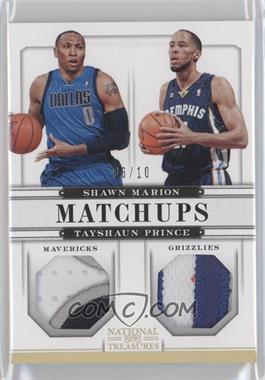 2012-13 Panini National Treasures Matchups Materials Prime #46 - Shawn Marion, Tayshaun Prince /10