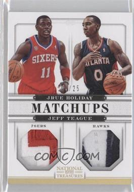 2012-13 Panini National Treasures Matchups Materials Prime #62 - Jeff Teague, Jrue Holiday /25