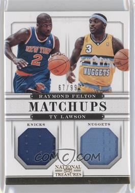 2012-13 Panini National Treasures Matchups Materials #49 - Raymond Felton, Ty Lawson /99