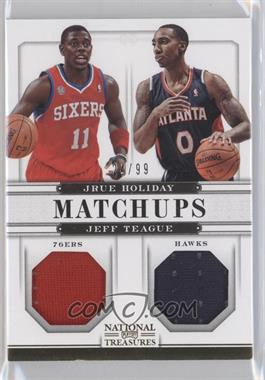 2012-13 Panini National Treasures Matchups Materials #62 - Jeff Teague, Jrue Holiday /99