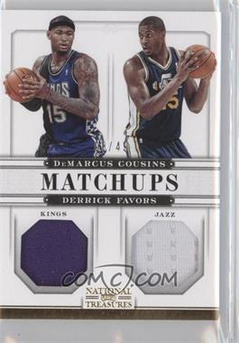 2012-13 Panini National Treasures Matchups Materials #78 - DeMarcus Cousins, Derrick Favors /49