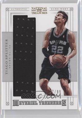 2012-13 Panini National Treasures Material Treasures #36 - Tiago Splitter /99