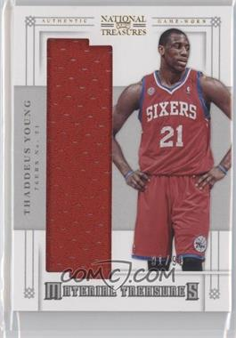 2012-13 Panini National Treasures Material Treasures #38 - Thaddeus Young /99