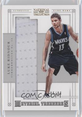 2012-13 Panini National Treasures Material Treasures #55 - Luke Ridnour /99