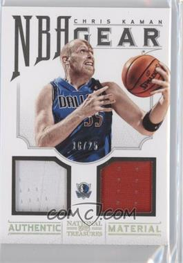 2012-13 Panini National Treasures NBA Gear Combos Prime #14 - Chris Kaman /25