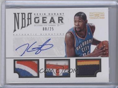 2012-13 Panini National Treasures NBA Gear Combos Triple Prime Autograph [Autographed] #4 - Kevin Durant /25