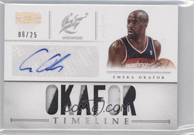 2012-13 Panini National Treasures Timeline Materials Custom Names Signatures Prime #4 - Emeka Okafor /25