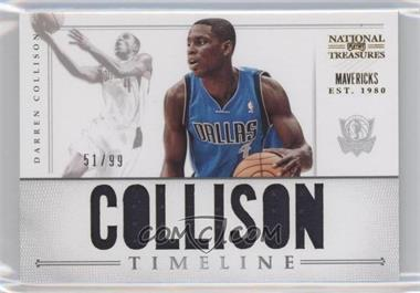 2012-13 Panini National Treasures Timeline Player Name #13 - Darren Collison /99