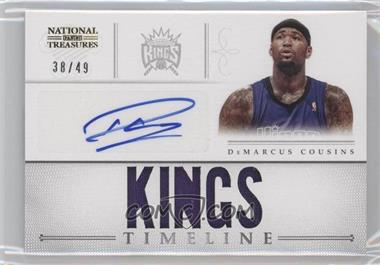 2012-13 Panini National Treasures Timeline Team Name Autograph [Autographed] #13 - DeMarcus Cousins /49