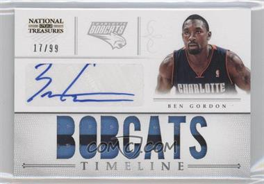 2012-13 Panini National Treasures Timeline Team Name Autograph [Autographed] #2 - Ben Gordon /99