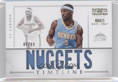 2012-13 Panini National Treasures Timeline Team Name #19 - Ty Lawson /99