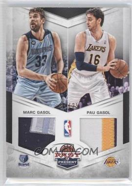 2012-13 Panini Past & Present Dual Jerseys Prime #3 - Marc Gasol, Pau Gasol /25
