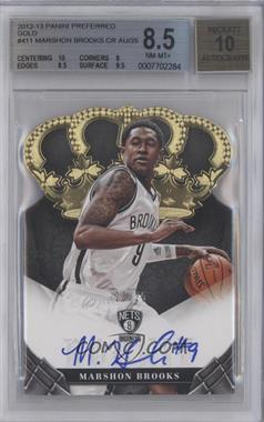 2012-13 Panini Preferred - Crown Royale Signatures - Gold #411 - MarShon Brooks /25 [BGS 8.5]