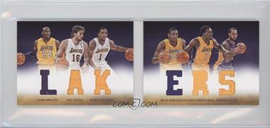 2012-13 Panini Preferred - Lakers Material Booklet #1 - Robert Sacre, Darius Johnson-Odom, Darius Morris, Kobe Bryant, Metta World Peace, Pau Gasol /199