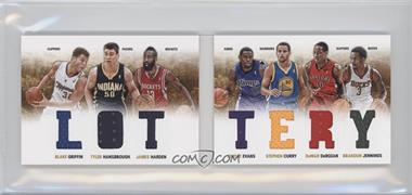 2012-13 Panini Preferred - Lottery Material Booklet #3 - Brandon Jennings, James Harden, Stephen Curry, Tyler Hansbrough, Tyreke Evans, Blake Griffin, DeMar DeRozan /199