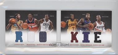 2012-13 Panini Preferred - Rookie Material Booklet #1 - Anthony Davis, Damian Lillard, Michael Kidd-Gilchrist, Bradley Beal, Dion Waiters, Thomas Robinson /249