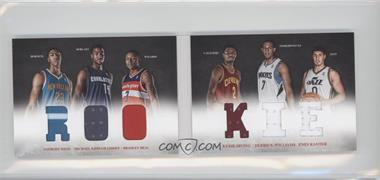 2012-13 Panini Preferred - Rookie Material Booklet #10 - Bradley Beal, Derrick Williams, Enes Kanter, Anthony Davis, Kyrie Irving, Michael Kidd-Gilchrist /249
