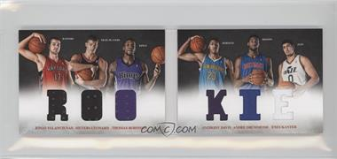 2012-13 Panini Preferred - Rookie Material Booklet #3 - Anthony Davis, Enes Kanter, Jonas Valanciunas, Thomas Robinson, Andre Drummond, Meyers Leonard /249