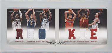 2012-13 Panini Preferred - Rookie Material Booklet #9 - Jan Vesely, Kyrie Irving, Derrick Williams, Enes Kanter, Jonas Valanciunas, Tristan Thompson /249