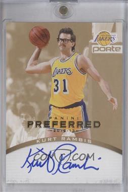 2012-13 Panini Preferred - Signatures - Gold #147 - Kurt Rambis /10
