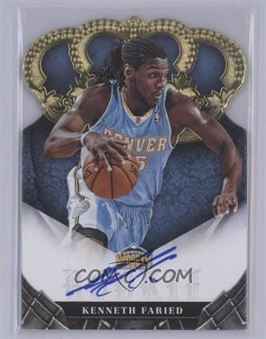 2012-13 Panini Preferred Crown Royale Signatures Gold #392 - Kenneth Faried /25 [Near Mint‑Mint]