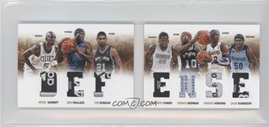 2012-13 Panini Preferred Defense Material Booklet Laundry Tags #1 - Ben Wallace, Dennis Rodman, Kevin Garnett, Tim Duncan, Zach Randolph, Dwight Howard, Kenneth Faried /1
