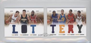 2012-13 Panini Preferred Lottery Material Booklet #3 - Brandon Jennings, James Harden, Stephen Curry, Tyler Hansbrough, Tyreke Evans, Blake Griffin, DeMar DeRozan /199