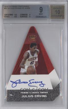 2012-13 Panini Preferred Panini's Choice Award Red #53 - Julius Erving /25 [BGS 9]