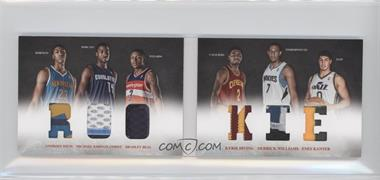 2012-13 Panini Preferred Rookie Material Booklet Prime #10 - Anthony Davis, Enes Kanter, Kyrie Irving, Michael Kidd-Gilchrist, Bradley Beal, Derrick Williams /25