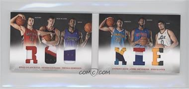 2012-13 Panini Preferred Rookie Material Booklet Prime #3 - Andre Drummond, Anthony Davis, Enes Kanter, Jonas Valanciunas, Meyers Leonard, Thomas Robinson /25
