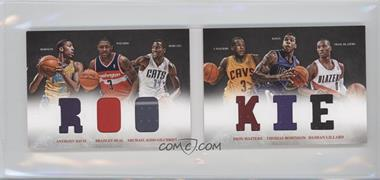 2012-13 Panini Preferred Rookie Material Booklet #1 - Anthony Davis, Damian Lillard, Michael Kidd-Gilchrist, Bradley Beal, Dion Waiters, Thomas Robinson /249