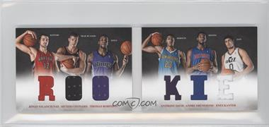 2012-13 Panini Preferred Rookie Material Booklet #3 - Anthony Davis, Enes Kanter, Jonas Valanciunas, Thomas Robinson, Andre Drummond, Meyers Leonard /249