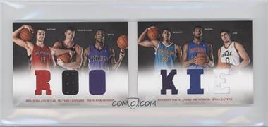 2012-13 Panini Preferred Rookie Material Booklet #3 - Anthony Davis, Enes Kanter, Jonas Valanciunas, Thomas Robinson, Andre Drummond, Meyers Leonard /249