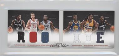 2012-13 Panini Preferred Rookie Material Booklet #4 - Harrison Barnes, Kenneth Faried, Michael Kidd-Gilchrist, Chandler Parsons, Derrick Williams, Kawhi Leonard /249