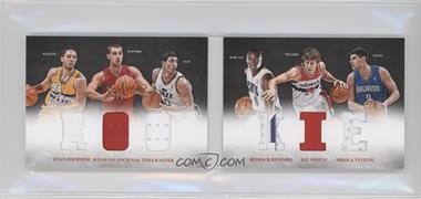 2012-13 Panini Preferred Rookie Material Booklet #6 - Bismack Biyombo, Evan Fournier, Jan Vesely, Jonas Valanciunas, Enes Kanter, Nikola Vucevic /249