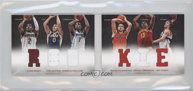 2012-13 Panini Preferred Rookie Material Booklet #9 - Jan Vesely, Kyrie Irving, Derrick Williams, Enes Kanter, Jonas Valanciunas, Tristan Thompson /249