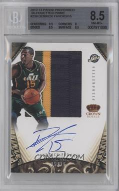 2012-13 Panini Preferred Silhouettes Prime #239 - Derrick Favors /15 [BGS 8.5]