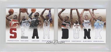 2012-13 Panini Preferred Slam Dunk Material Booklet #1 - Dominique Wilkins, Dwight Howard, Vince Carter, Andre Iguodala, Blake Griffin, Clyde Drexler, DeMar DeRozan, LeBron James /199