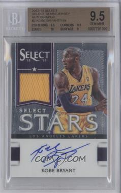 2012-13 Panini Select Select Stars Jersey Autographs #2 - Kobe Bryant /199 [BGS9.5]