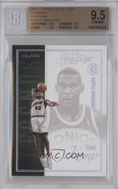 2012-13 Panini Signatures Legends Platinum #195 - Shawn Kemp /1 [BGS 9.5]