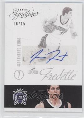 2012-13 Panini Signatures Signatures Variation [Autographed] #18 - Jimmer Fredette /15