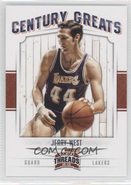 2012-13 Panini Threads - Century Greats #14 - Jerry West