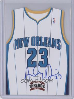 2012-13 Panini Threads Rookie Team Threads Die-Cut Signatures #17 - Anthony Davis