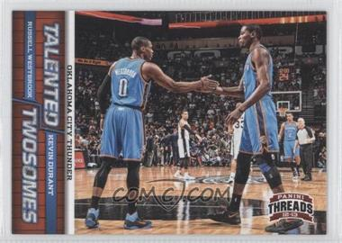 2012-13 Panini Threads Talented Twosomes #1 - Kevin Durant, Russell Westbrook