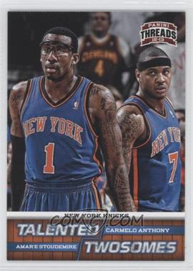 2012-13 Panini Threads Talented Twosomes #10 - Carmelo Anthony, Amar'e Stoudemire