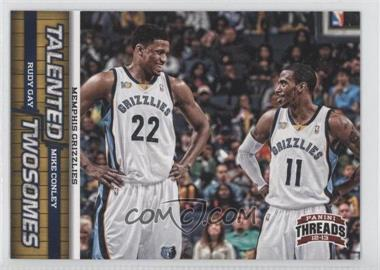 2012-13 Panini Threads Talented Twosomes #12 - Mike Conley, Rudy Gay